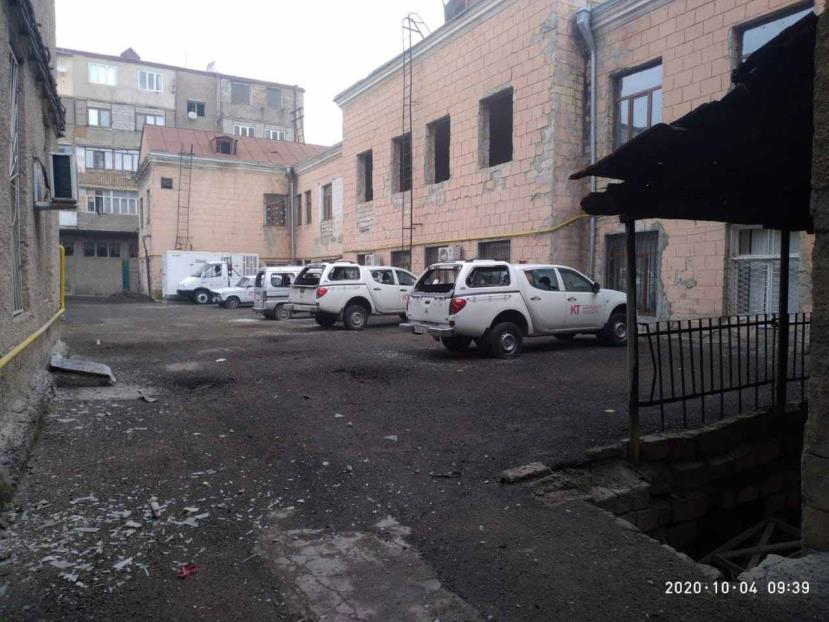 The Head Office of the Telecommunication Company Struck by Azerbaijan